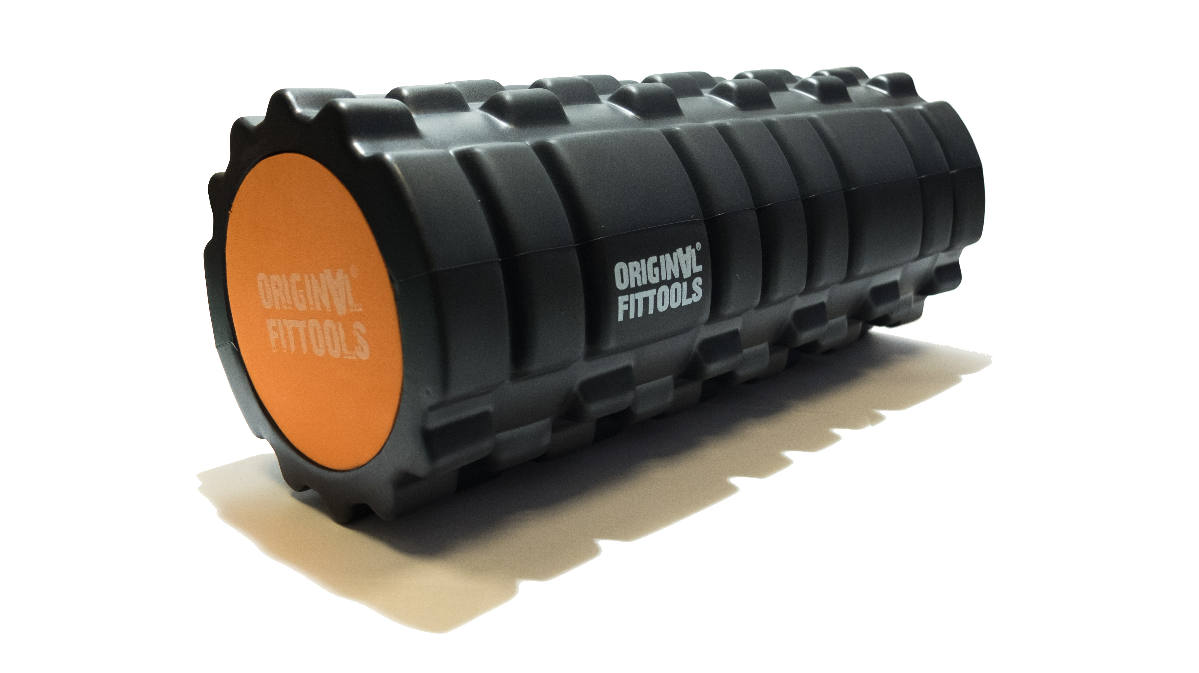 Original FITTOOLS Цилиндр массажный 33 x 14 см черный двойной FT-DOUBLE-ROLL