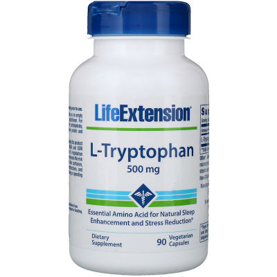 Life Extension L-Tryptophan 500 мг 90 вегетарианских капсул