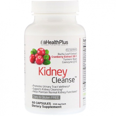 Health Plus Kidney Cleanse 550 мг 60 капсул